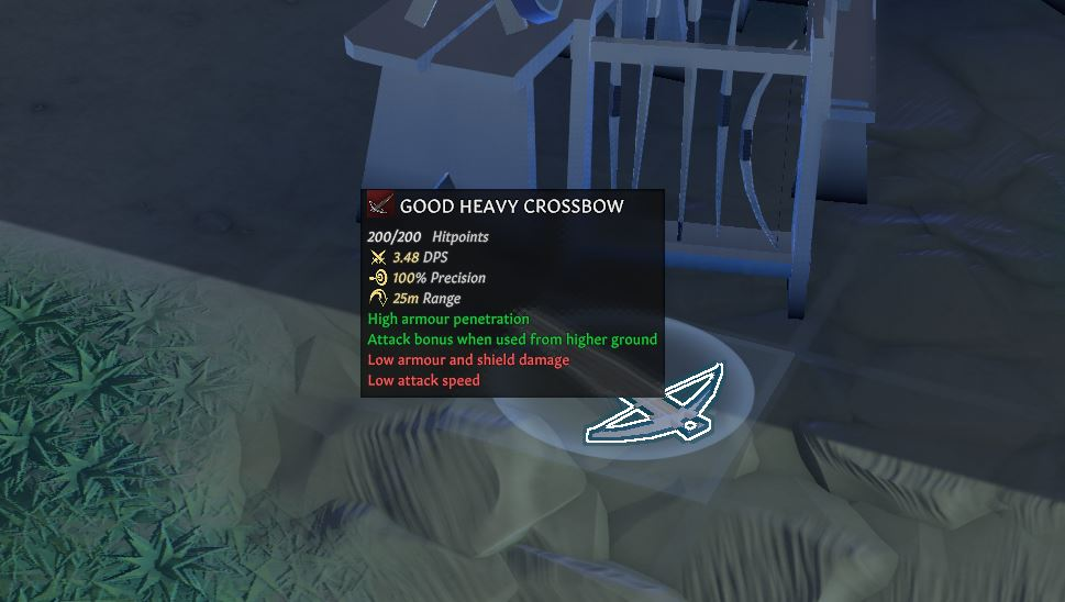 The heavy crossbow in going medieval
