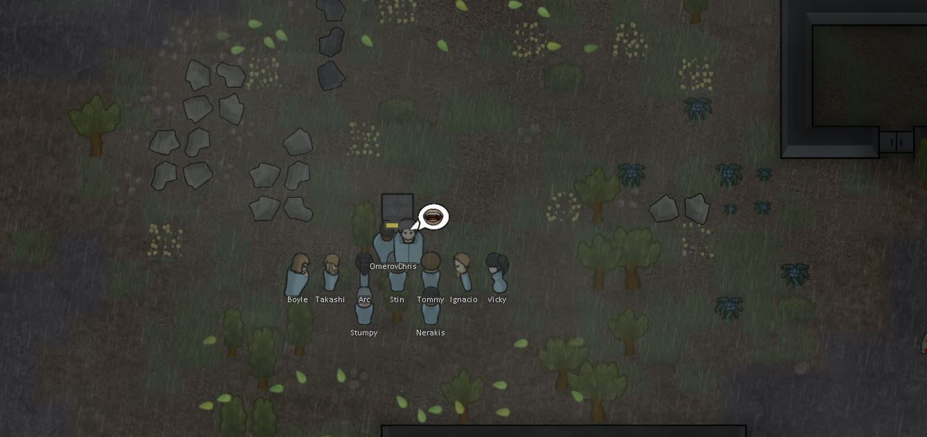 colonists performing a scarification ritual