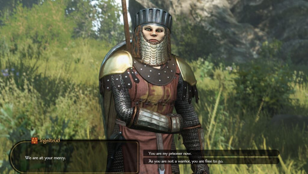 Letting a lord go free after battle to raise the charm skill in bannerlord